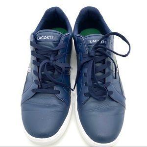 LACOSTE Europa Men's Leather Sneakers Size 11